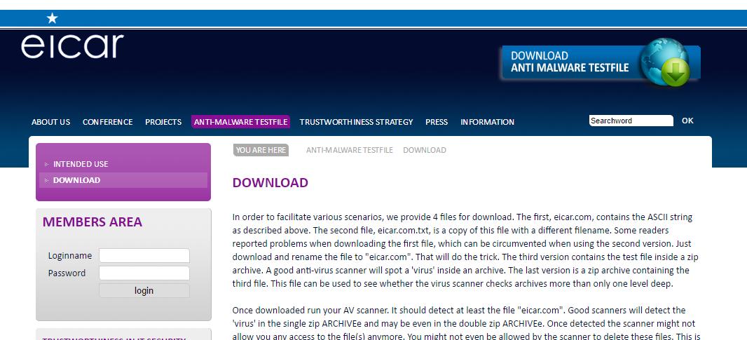 Win10 ウィルス対策ソフトが動作しているのか?感染させて確かめる
